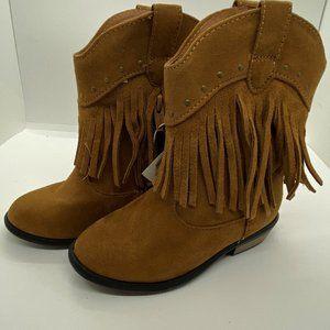 Cat & Jack Toddler girl fringe boots size 9
